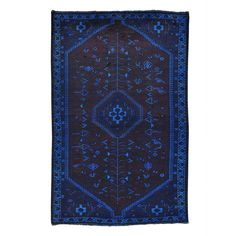 1800getarug Refurbished Handmade Semi Antique Overdyed Persian Shiraz Area Rug