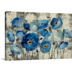 Great Big Canvas Aquamarine Floral by Silvia Vassileva Gallery Painting Print on Wrapped Canvas