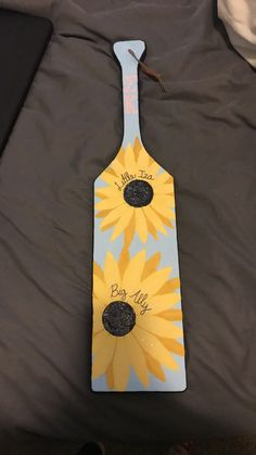 Sunflower big/little sorority paddle