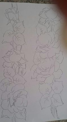 Embroidery Floral Coloring Books Ideas For 2019 Flower Logo, Flower Art, Flower Patterns, Flower Designs, Laura Rodrigues, Felt Roses, Flower Sketches, Painting Patterns, Paint Designs
