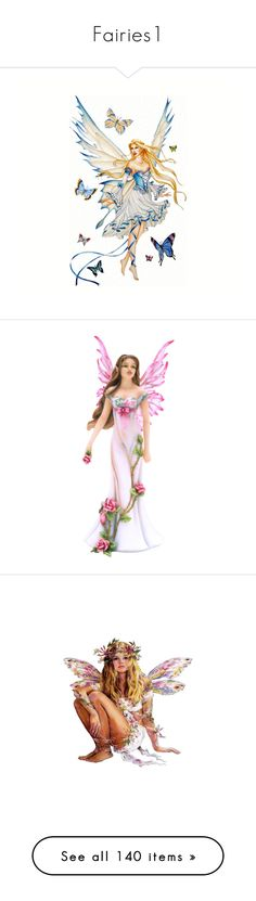 """""""Fairies1"""" by auntiehelen ❤ liked on Polyvore featuring fairies, people, fantasy, backgrounds, angels, filler, art, faries, women and dolls"""