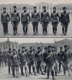 OTTOMAN TAKSIM ARTILLERY BARRACKS, ISTANBUL Osmanlı Taksim Kışlası Topçu Askerleri, İstanbul