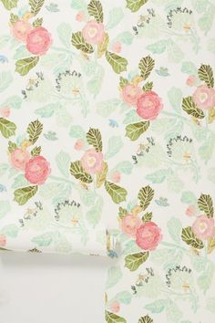 Watercolor Peony Wallpaper - anthropologie.com #anthrofave