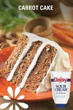 Daisy Sour Cream Carrot Cake Recipe