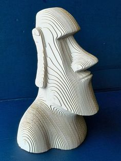 Moai Statue - Cardboard Sculpture, DIY Papercraft, paper art,Home Decor, Corrugated board ,DIY Gift Cardboard Sculpture, Wood Sculpture, Tree Carving, Wood Carving, Stone Statues, Buddha Statues, Angel Statues, Easter Island Statues, Tiki Head