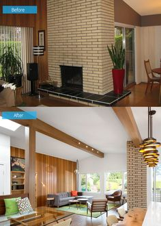 before and after updated 1970s home in vancouver home design lover