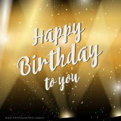 Mensagem de aniversário - Happy Birthday to you