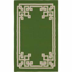 surya beth lacefield alameda green flat weave area rug.