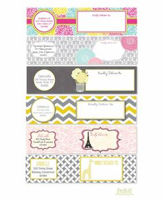 Coordinating Wrap Around Address Label  by TrinityStStudio on Etsy, $12.50