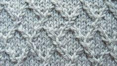 Lattice, Lozenge, or Diamond Knitting Stitch