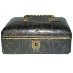 1stdibs | A French Leather Covered Box