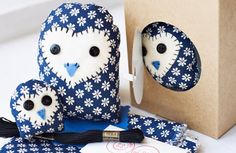 peek-a-boo owls in a box... these look simple enough for the sewing challenged like me!