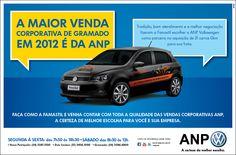 Parabéns ANP Volkswagen. A maior venda Corporativa de Gramado em 2012.