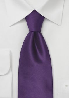 Color Morado - Purple!!!  Mens Silk Tie in Solid Purple