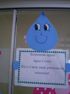 mensagem dia da agua Art Activities, Primary School, Envelope, Projects To Try, Arts And Crafts, Clip Art, Classroom, Teaching, Education