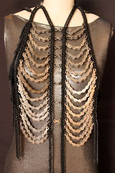 Repetitive Motions Black Chainmaille and Bike Chain by skycubacub, $900.00
