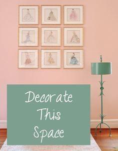 The #customframed fashion #art in this baby girl's nursery is so lovely & will grow with her!