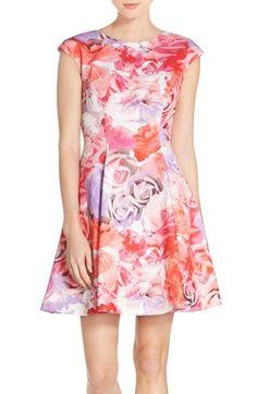 Fit Flare Dress, Flare Skirt, Scuba Dress, Nordstrom Dresses, Vince Camuto, Floral Prints, Fitness, Skirts, Color