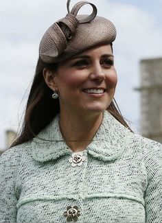 Duchess of Cambridge wearing a Cappuccino hat by Whiteley.