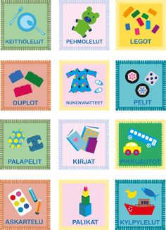 Lelujen luokitteluun Tulostettava Printable Early Education, Early Childhood Education, Special Education, Finnish Language, Future Jobs, Nursery School, Teaching Aids, Kindergarten Teachers, Working With Children