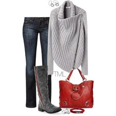 Big Cozy Sweater by tmlstyle on Polyvore featuring CROSS Jeanswear, Big Buddha and Aéropostale