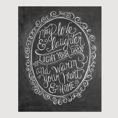 Irish Blessing Art  Hand Lettering  May Love and door LilyandVal, $19.00