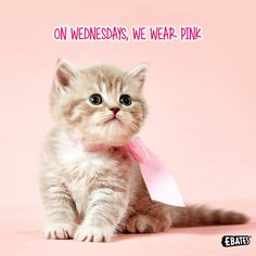 If you don't wear pink on Wednesday, you can't sit with us! (Just kidding - you can always sit with us!)