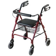 Premium Rolling Walker by St. Johns Medical. $89.99. The next generation in walkers. This premium walker glides effortlessly along, has brakes for safety plus a basket and seat! The most advanced, stable and easiest to use walker we've seen - weighs under 15 lbs. and folds down for easy portability! This revolutionary walker is an idea whose time has come. It's crafted from space age aluminum so it's lightweight and strong and has four 6 wheels that glide over une...