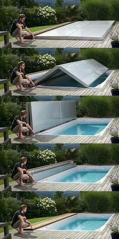 Cool swimming pool - Houses that have a swimming pool will tend to look more comfortable and quiet. Moreover, the swimming pool is designed with a modern design, would look beautiful, cool, classy, and majestic. Like the examples of this house. #pool #homedecor #outdoor #indoor #swimmingpool #homeideas