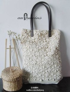 Make to Order: Shabby Chic Rustic Handmade Beautiful Lace Tote Lace Bag, Diy Accessoires, Wedding Bag, Wedding White, Crochet Purses, Crochet Bags, Fabric Bags, Knitted Bags, Cotton Lace