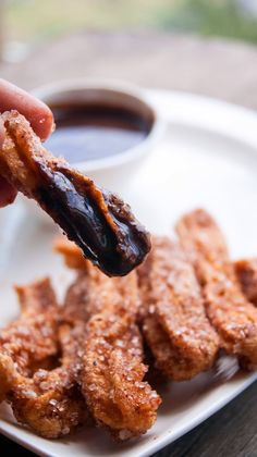 Always Hungry: Eggless Churros with dark chocolate dip