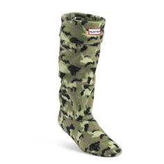 PATTERNED FLEECE WELLY SOCKS (CAMOFLAGE GREENS)
