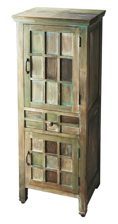 Vowing never to sacrifice beautiful design for the sake of going natural, we present a fabulous piece for your consideration. We love the interesting handiwork on this Depoe Bay Accent Cabinet, and its...  Find the Depoe Bay Accent Cabinet, as seen in the London's Chic Artist Residence Collection at http://dotandbo.com/collections/londons-chic-artists-residence?utm_source=pinterest&utm_medium=organic&db_sku=123088