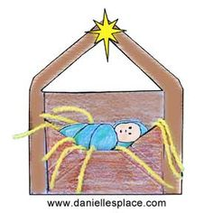 Free Baby Jesus in a Manger Envelope craft!  Print it out here:  http://www.daniellesplace.com/html/Bible_themes_-_Christmas.html#envelope2