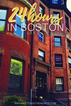 If you're looking for how to spend one day in Boston, this post has everything you need to plan your 24 hours in Boston right! Places In Boston, Boston Things To Do, Vacation Wishes, Vacation Trips, Vacations, One Day Trip, Weekend Trips, Slow Travel, Travel Usa