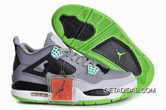 quality design 30139 91774 Top Nike Air Jordan 4 Mens Shoes in Gray Black and Green, cheap Jordan If  you want to look Top Nike Air Jordan 4 Mens Shoes in Gray Black and Green,  ...