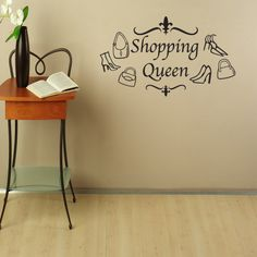 Style and Apply Shopping Queen Mural Wall Decal ( 16in x 9in)