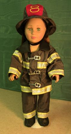 Firefighter Annie American Girl hand-made Firefighter Suit with cap and boots