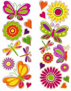 Fun Time 99876 Butterflies and Flowers Wall Stickers Living Room Wall Decor Stickers, Wall Stickers, Room Decor, Wall Appliques, Butterfly Wall Decals, Flower Branch, Flower Clipart, Butterfly Flowers, Doodle Art