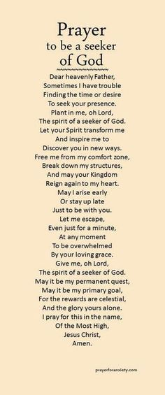 May Lisa and I be seekers of you. Lord, thanks for still allowing us to choose to still seek you when we have failed many times. Note: I also pray this for myself and for everyone! Prayer Times, Prayer Scriptures, Bible Prayers, Faith Prayer, God Prayer, Prayer Quotes, Power Of Prayer, Bible Quotes, Prayer Room