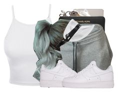 """PND ROCK"" by bfamily ❤ liked on Polyvore featuring LE3NO, Michael Kors, NIKE and Fendi"