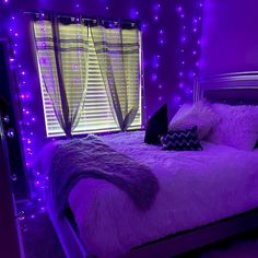 Which is your current vibe? Neon Bedroom, Purple Bedrooms, Cute Bedroom Decor, Bedroom Decor For Teen Girls, Room Design Bedroom, Teen Room Decor, Room Ideas Bedroom, Bedroom Ideas Purple, Chill Room