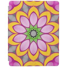 Bright colored flower cover for iPad air Ipad 1, Ipad Case, Green Colors, Bright Colors, Flower Patterns, Cover, Flowers, Pink, Abstract Pattern