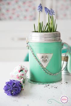 Mint, green, vintage, blue, flowers, Syl loves, retro