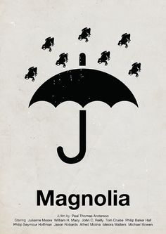 'Magnolia' A film by Paul Thomas Anderson- pictogram movie poster by Viktor Hertz