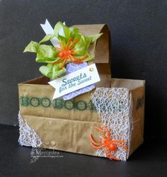 Brown Bag Your Sweets! Love Bugs, Life Design, Brown Bags, Craft Projects, Presents, Gift Wrapping, Sweets, Stamp, Joy