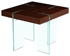 Glass Leg End Table in Java
