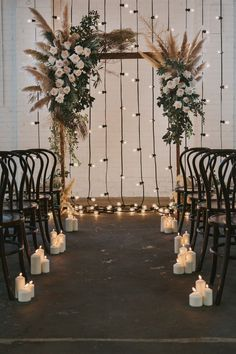 Indoor floral wedding arch with pampas feathers and garlands .- Indoor Blumen Hochzeitsbogen mit Pampas Federn und Girlanden Lichter … – Trend NB Indoor floral wedding arch with pampas feathers and garland lights … – - Bohemian Wedding Decorations, Wedding Altars, Decor Wedding, Bohemian Weddings, Bohemian Backdrop, Wedding Centerpieces, Wedding Events, Rustic Boho Wedding, Loft Wedding
