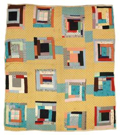 "Martha Pettway, ""Housetop"" variation, 1930s, Cotton, 84 x 74 inches #GeesBend #Patchwork #Quilting"