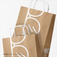 The Logo Combines the word Optic with the first letter of the owner's last name Store Design, Web Design, Graphic Design, Glasses Shop, Glasses Logo, Shopping Bag Design, Paper Shopping Bag, Paper Bag Design, Eyewear Shop